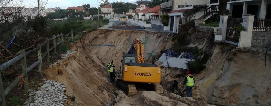 Intervenção de Pinto&Braz sobre aluimento em São Pedro de Moel